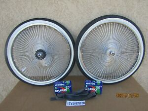 NEW  20'' -140 SPOKES CHROME BICYCLE RIM SET FOR BMX , LOWRIDER, TRICYCLE,ETC