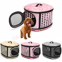 Pet Dog Cat Carrier Side Foldable Travel Tote Shoulder Bag Portable Cage Kennel