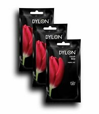 DYLON Tulip Red Hand Fabric Dye 3 Pack
