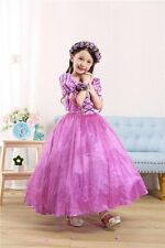 2016 Princess Rapunzel Fancy Dress Outfit Girls Anime 3-9 Years Ball Gown Orchid