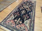 Lovely Runner 3x9, 4x9  Oriental Area Rug Navy Red Lion, temple Unusual pattern