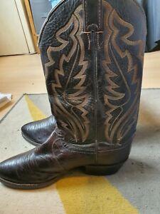 Justin iguana skin cowboy boots vintage