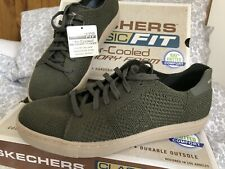 New Men's  Green Sketchers Shoes Size 5.5 Eur 39 Rrp £64 Air-cooled