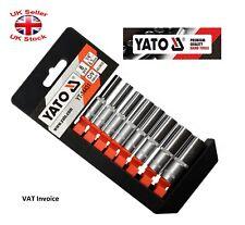 Yato Profesional 0.6cm Vaso Largo Juego 8 As-Drive Sistema 5.5-13mm YT-14431