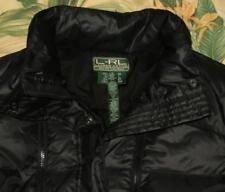 Womens Polo RALPH LAUREN Black Goosedown Parka Coat Jacket Large L