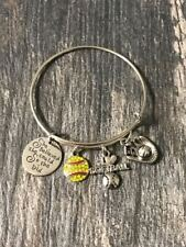 Softball Jewelry - Softball Bangle Bracelet - Girls Softball Player Gift
