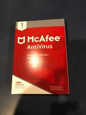 NEW McAfee AntiVirus Essential Protection for your PC 1 year Subscription