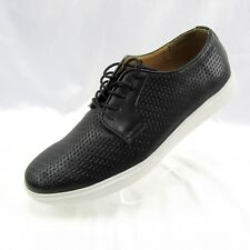 Adolfo Men's Woven Lace Up Casual Oxford Fashion Sneakers 10 Black Jason-2 NEW
