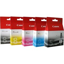 Canon PGI-5 CLI-8 CMYK Ink Cartridges Genuine Pixma iP4200 iP5200 iP5200R iP5300
