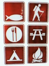 Camp Sign Cutouts 6 Pc. Set, School & Party Supplies Brand New