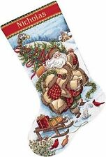 COUNTED CROSS STITCH Christmas Stocking KIT Santas Journey Dimensions 16""