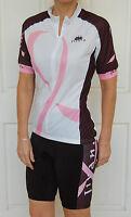 JIVANA Cycling Bike Knick Pant Jersey Kit Set Ladies womens Pink & Black XS-XXL