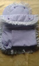 Bedding Quilt Pillow Sheet and Mattress for Silver Cross Ranger Dolls Pram Lilac