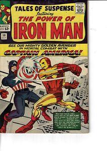 Tales Of Suspense 58 Captain America VS Iron Man Chameleon Fine- 1964 Glossy