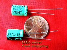 25 pcs  -  270uf 16v   105c  radial electrolytic capacitors