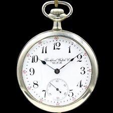 1907 ROCKFORD 11 Jewel Mechanical Pocket Watch Grade 605 Large 16s Silver Color