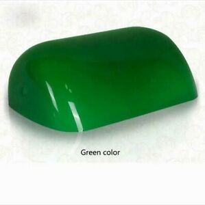 Green Replacement Glass Bankers Lamp Shade Cover for Desk Lamp L8.85 W5.11