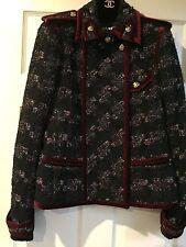 Chanel 09A NEW PARIS- MOSCOW Tweed Satin Multicolor Jacket Coat FR40 $8K