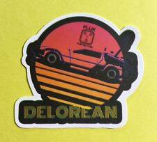 Back To The Future Neon DeLorean Skateboard Laptop Phone Luggage Decal Sticker