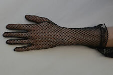 Ladies Long Lace Gloves Black Size 7.5 Made in Portugal
