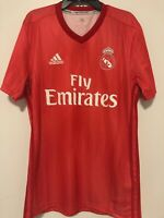 Real Madrid FC Red Parley Third Jersey Adidas Size Small 2018/19 New NWT Soccer