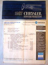 1967 CHRYSLER~NEWPORT CONV~WINDOW STICKER MSRP LABEL+OP.INSTRUCT. MANUAL~383 OEM