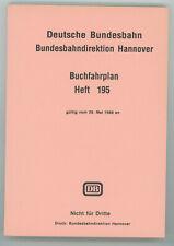 Deutsche Bundesbahn BD Hannover, Buchfahrplanheft 195, ab Mai 1988