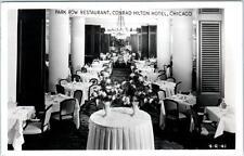 RPPC  CHICAGO, IL   CONRAD HILTON HOTEL  Park Row Restaurant 1955  Postcard