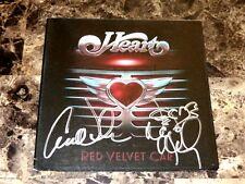 Heart Rare Band Signed CD Ann & Nancy Wilson Red Velvet Car Pre-Sale Promo + COA