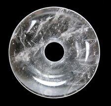 Cristal de Roca Donut Colgante Gema 40mm Piedra Pi Curativa
