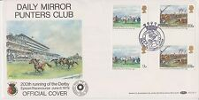 GB DAILY MIRROR PUNTERS CLUB FDC OFFICIAL COVER EPSOM DERBY GUTTER STAMPS 1979
