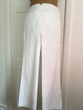 White Tommy Hilfiger Cotton Summer Chinos Size 6 With Front/Side/back Pockets