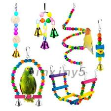 6 PCS PACK BEAKS METAL ROPE SMALL PARROT BUDGIE COCKATIEL CAGE BIRD TOYS UK
