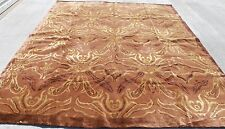 R29546 Exclusive Wool Silk Brown Hand Crafted Tibetan Area Rug 8' x 10' MI Nepal