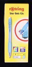 10 X Rotring Star gels Click Gel Stylos à bille pastel bleu fin