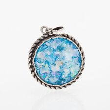 Great 925 Sterling Silver Ancient Roman Glass Garnet Pendant Unique-Jewelry
