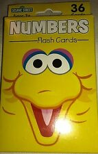 Sesame Street Number Counting Learning Activity Flash Card Game 36 Pack New