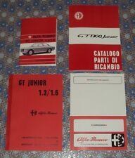Kit 4 manuali per restauro Alfa Romeo GT 1.3 – 1.6 junior cruscotto a due gobbe