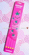 POPULAR! SMIGGLE SCENTED PENCILS -  STRAWBERRY SCENT, 4 PENCILS