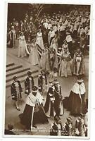 ROYALTY - 1953 CORONATION, QUEEN ELIZABETH, PASSING THROUGH ABBEY  R.P. Postcard