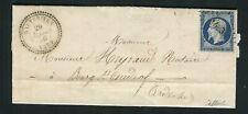 Rare lettre de Hauterives pour Bourg St Andéol ( Drôme 1856 ) avec un n° 14Aa