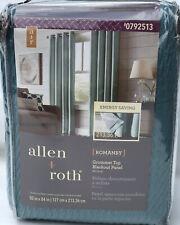 allen + roth ROMANBY 50 x 84 MINERAL Blue Blackout Single Curtain Panel Grommets