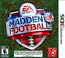 Madden NFL Football (Nintendo 3DS, 2011) used once