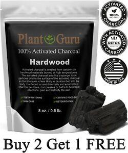 Activated Charcoal Powder 8 oz. HARDWOOD 100% Food Grade Organic Teeth Whitening