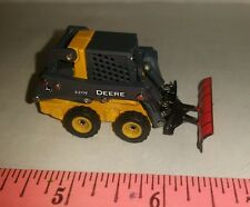 1/64 ERTL CUSTOM FARM TOY JOHN DEERE 320E SKID STEER LOADER W/ SNOW BLADE PLOW!