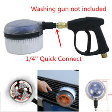 Rotating Wash Brush Pressure Washer Hose Cleaner Cleaning Tools + Quick Connect