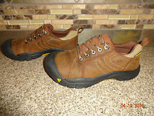 Youth Sz 4 EUR 37 KEEN Brown Leather Lace-up Trail/Walking Shoes