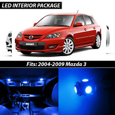 2004-2009 Mazda 3 Blue Interior LED Lights Package Kit MazdaSpeed 3