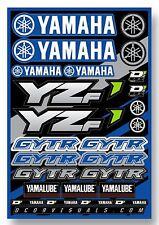 D'COR Yamaha YZF Decal Sheet Thick Vinyl MotoX Dirt Bike Supercross Sticker Pack