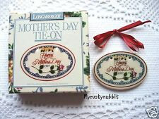 Longaberger 1997 Mother's Day Basket Tie-on ~ Mom Mother - New in Box